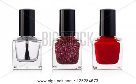 nail polish bottle on white background