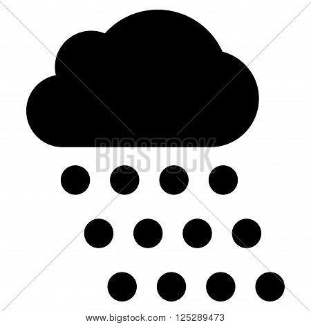 Rain Cloud vector icon. Rain Cloud icon symbol. Rain Cloud icon image. Rain Cloud icon picture. Rain Cloud pictogram. Flat black rain cloud icon. Isolated rain cloud icon graphic.
