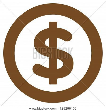 Finance vector icon. Finance icon symbol. Finance icon image. Finance icon picture. Finance pictogram. Flat brown finance icon. Isolated finance icon graphic. Finance icon illustration.