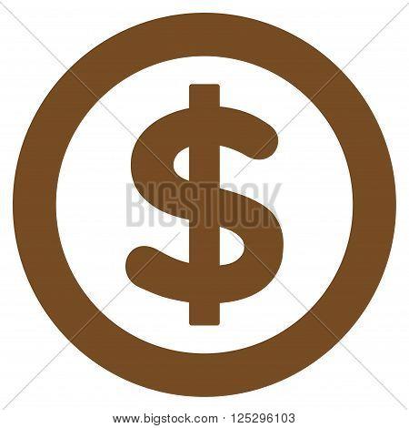 Finance vector icon. Finance icon symbol. Finance icon image. Finance icon picture. Finance pictogram. Flat brown finance icon. Isolated finance icon graphic. Finance icon illustration.