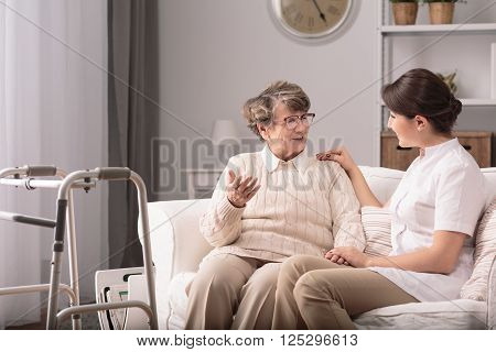 Supportive Carer And Patient