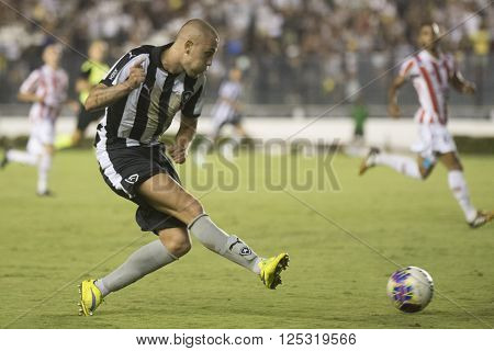 Rio de Janeiro Brasil - April 09 2016: Octavio player in match between Vasco da Gama and Madureira by the Carioca championship in the S ** Note: Visible grain at 100%, best at smaller sizes