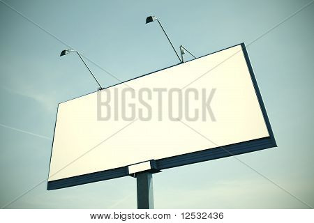 Huge Billboard With Clear Space