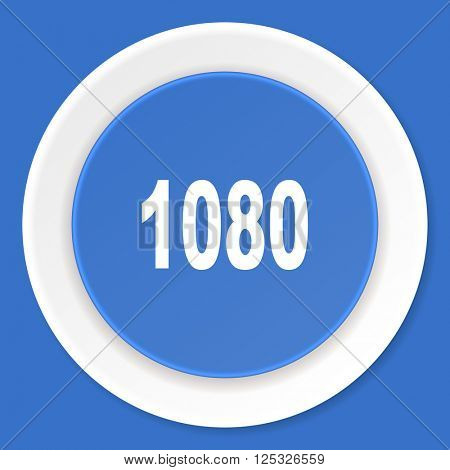 1080 blue flat design modern web icon