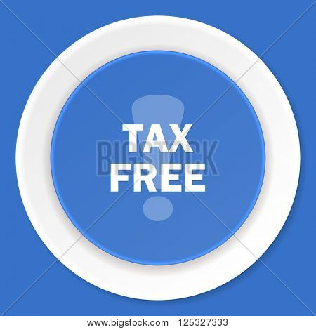tax free blue flat design modern web icon