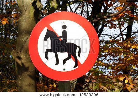 sign for no riding