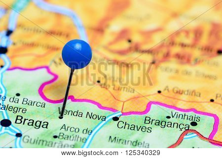 Venda Nova pinned on a map of Portugal