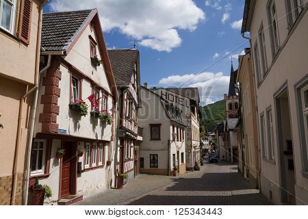 Bacharach Town In Rhine River Area, Germany.