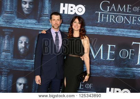 LOS ANGELES - APR 10:  Dan Weiss at the Game of Thrones Season 6 Premiere Screening at the TCL Chinese Theater IMAX on April 10, 2016 in Los Angeles, CA