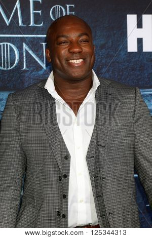 LOS ANGELES - APR 10:  DeObia Oparei at the Game of Thrones Season 6 Premiere Screening at the TCL Chinese Theater IMAX on April 10, 2016 in Los Angeles, CA
