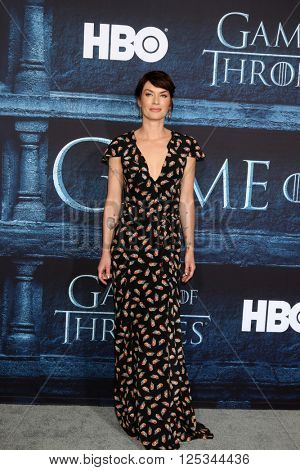 LOS ANGELES - APR 10:  Lena Headey at the Game of Thrones Season 6 Premiere Screening at the TCL Chinese Theater IMAX on April 10, 2016 in Los Angeles, CA
