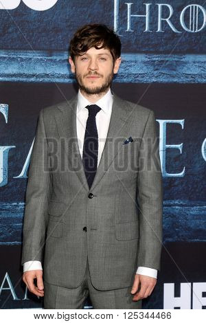 LOS ANGELES - APR 10:  Iwan Rheon at the Game of Thrones Season 6 Premiere Screening at the TCL Chinese Theater IMAX on April 10, 2016 in Los Angeles, CA