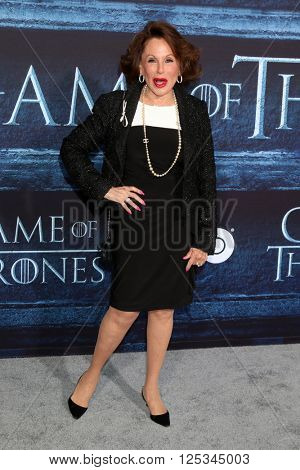 LOS ANGELES - APR 10:  Nikki Haskell at the Game of Thrones Season 6 Premiere Screening at the TCL Chinese Theater IMAX on April 10, 2016 in Los Angeles, CA