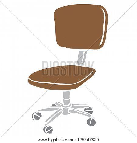 computer chair cartoon