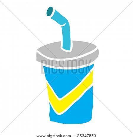 cartoon illustration soda