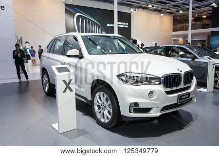 BANGKOK - MARCH 22: BMW X5 Celebration Edition car on display at The 37 th Thailand Bangkok International Motor Show on March 22 2016 in Bangkok Thailand.