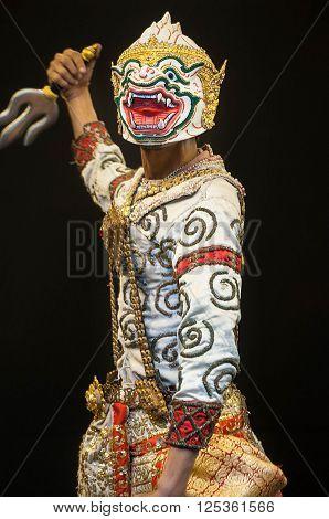 Thai Culture Dancing art in masked