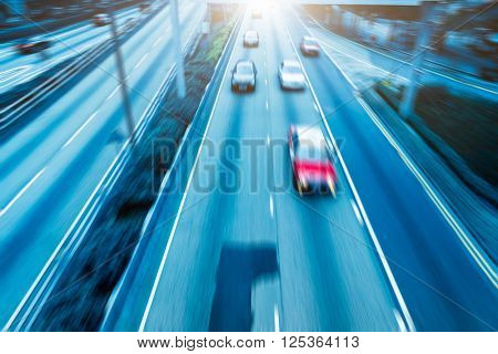 motion blurred traffic