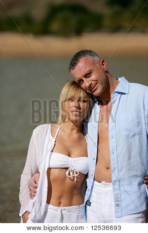 Portrait of a couple in the beach