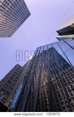 office buildings on 42nd street in manhattan new york city poster