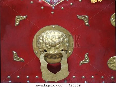 Chinese Adorning On Doors