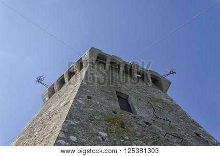 The tower of Mount Titan in San Marino