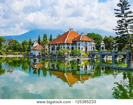 Karangasem water temple palace in Bali, Indonesia
