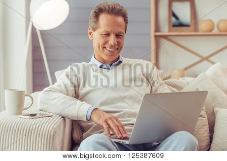 Middle Aged Man Working