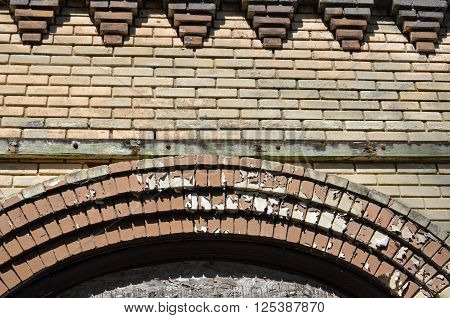 Art deco brick work background or texture