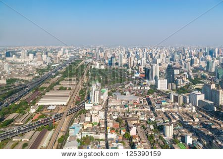Modern Urban Skyline Of Bangkok In The Morning