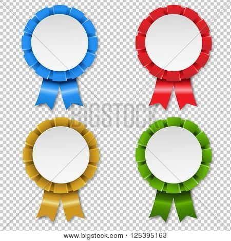 Rosette Set, Vector Illustration, Isolated on Transparent Background, Vector Illustration
