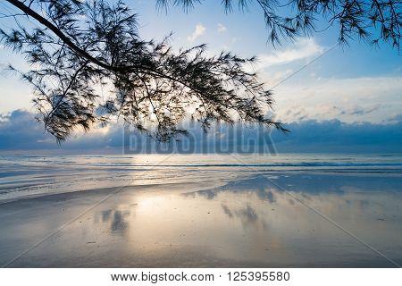 Early Morning Light On A Peaceful Beach