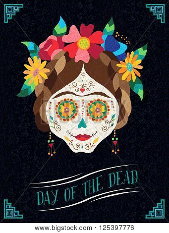 Day Of The Dead Happy Catrina Illustration Design