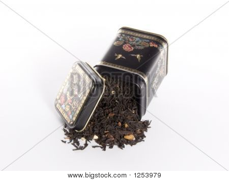 Caja negra para el té.