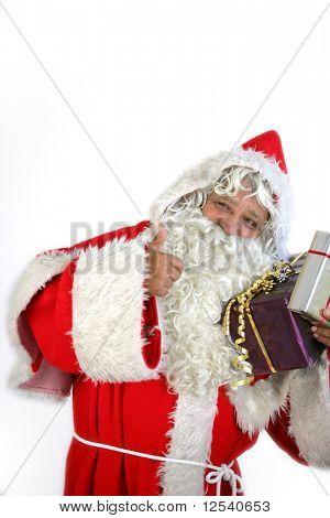 Portrait of Santa Claus on white background