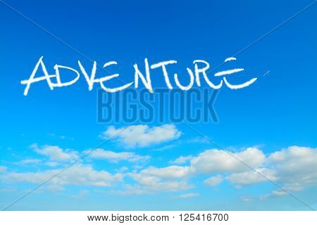 adventure written in the sky with contrails