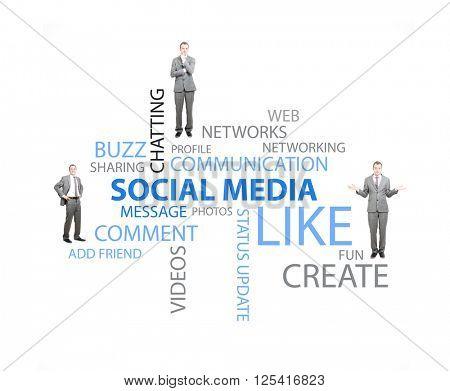 Social media strategist on white