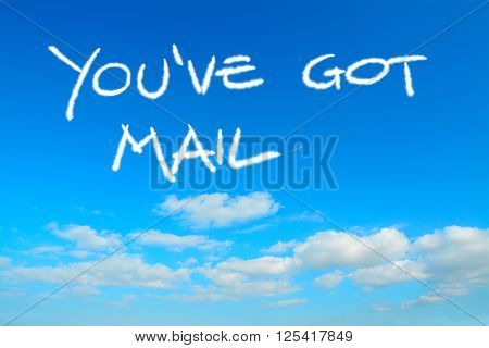 you've got mail written in the sky with contrails