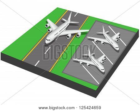 Vector illustration of airport. Vector illustration can be used for creating inforgaphics prints web and other crafts.
