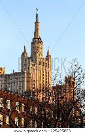Stalin skyscraper on Kotelnicheskaya embankment in Moscow