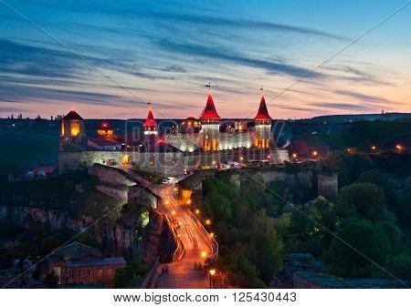 Old Castle In Kamenetz-podolsk In Evening