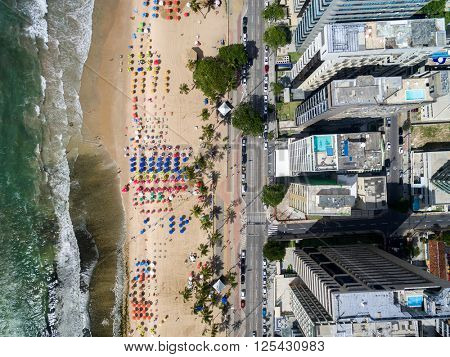 Top View of a Beach, Recife, Pernambuco, Brazil