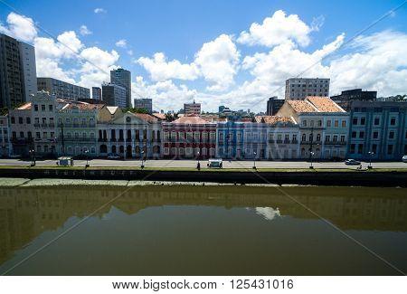 Houses on Aurora street, Recife, Pernambuco, Brazil