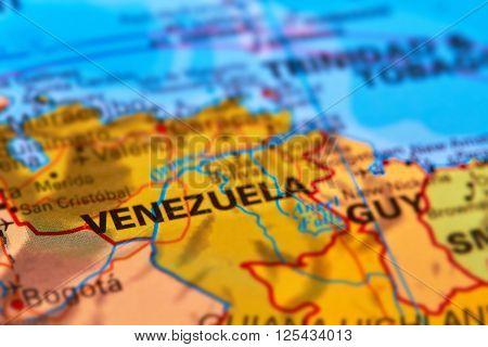 Venezuela On The Map