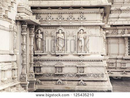 Detail of the Mandir Shri Swaminarayan Temple in Toronto, Canada