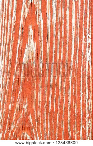 Painted In Red Old Wooden Desk