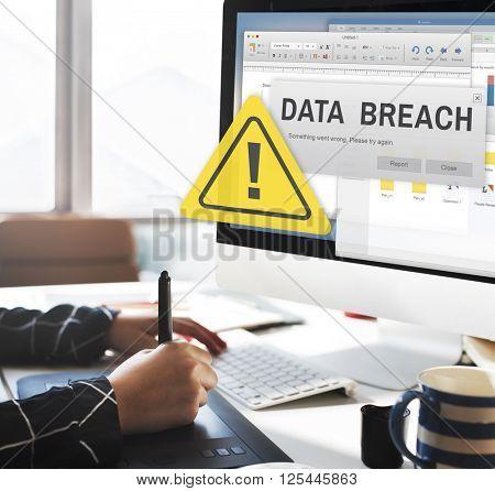 Data Breach Security Confidential Cybercrime Concept poster