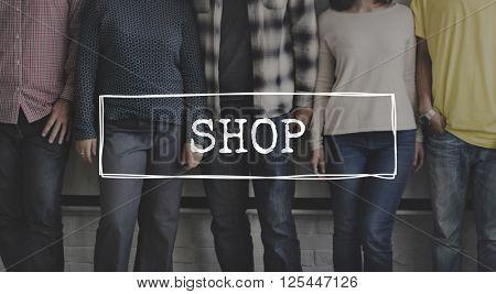 Shop Shopping Spending Distributor Friends Concept