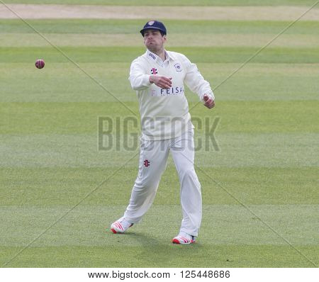 CHELMSFORD, ENGLAND - APRIL 11 2016: Benny Howell of Gloucestershire during the Specsavers County Championship match between Essex and Gloucestershire at the County Ground in Chelmsford, England.