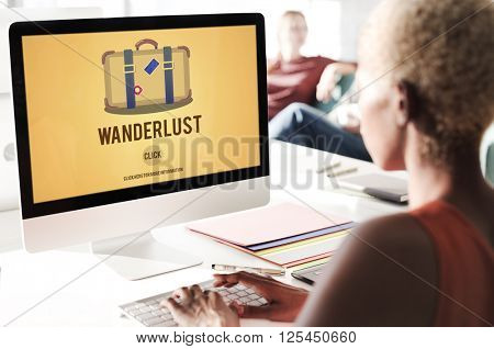 Tourism Travel Wanderlust Vacation Luggage Concept